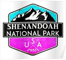 SHENANDOAH NATIONAL PARK VIRGINIA MOUNTAINS HIKING BIKING CAMPING PINK Poster