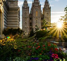 Starburst SLC LDS Temple by LaRae55