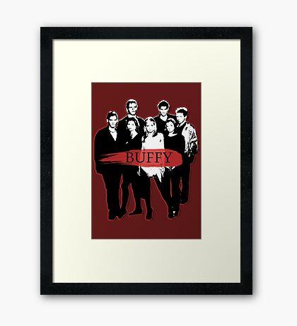 BTVS CAST (S3): The Scoobies! Framed Print