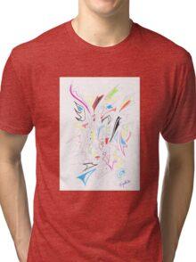 0108 - Bunte Vielfalt Tri-blend T-Shirt