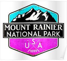 MOUNT RAINIER NATIONAL PARK WASHINGTON 1899 HIKING CAMPING CLIMBING PINK Poster