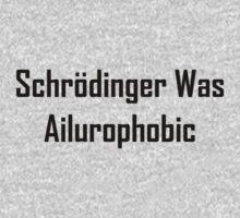 Schrodinger Was Ailurophobic Kids Tee