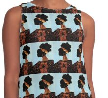 The blue sky of Africa Contrast Tank