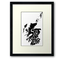 Scotland Black Framed Print