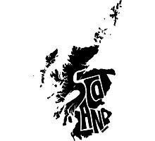 Scotland Black Photographic Print