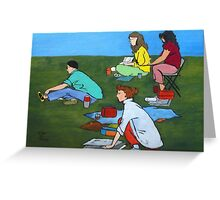 Plein Air Exercises Greeting Card