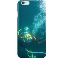 Diver on shot rope reached lazy shot! iPhone Case/Skin