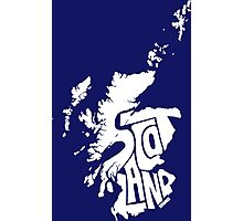 Scotland White Photographic Print