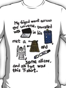 Tourist Doctor Who Tee T-Shirt