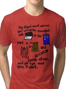 Tourist Doctor Who Tee Tri-blend T-Shirt
