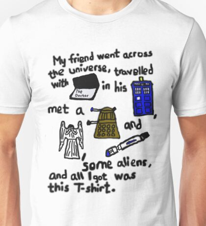 Tourist Doctor Who Tee Unisex T-Shirt