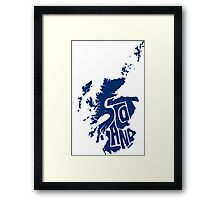 Scotland Blue Framed Print