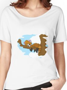 Red Panda Sleeping in a Tree Women's Relaxed Fit T-Shirt