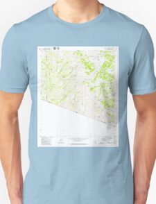USGS TOPO Map Arizona AZ Bartlett Mtn 310392 1979 24000 Unisex T-Shirt