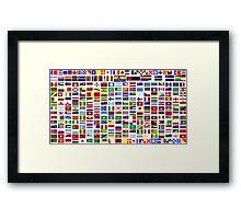International and minority communities flags Framed Print
