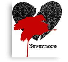 Nevermore Red Canvas Print