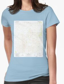 USGS TOPO Map Arizona AZ San Cayetano Mts 313243 1981 24000 Womens Fitted T-Shirt