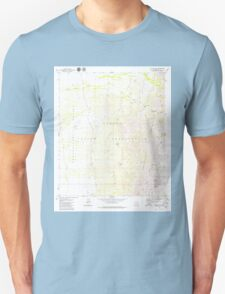 USGS TOPO Map Arizona AZ Aguirre Peak 310237 1979 24000 Unisex T-Shirt