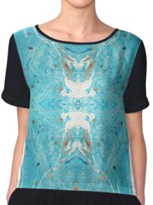 Marbled Reflections Chiffon Top