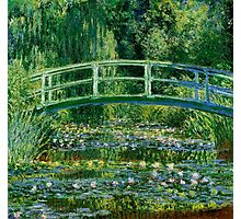 Water lilies, Claude Monet,beautiful vintage impressionist art Photographic Print