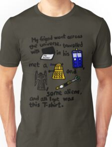 Tourist Doctor Who Tee 2 Unisex T-Shirt