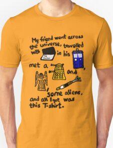 Tourist Doctor Who Tee 2 Unisex T-Shirt