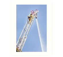 Ladder Fireman Art Print