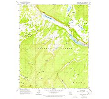 USGS TOPO Map Arizona AZ Lower Lake Mary 312173 1962 24000 Photographic Print