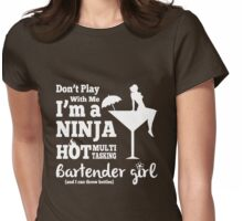 Hot Bartender Girl Womens Fitted T-Shirt