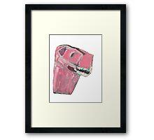 Pink Dino Framed Print