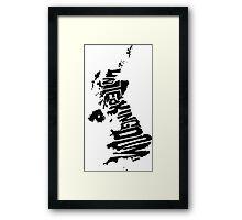 United Kingdom Black Framed Print