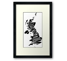United Kingdom Black Framed Print