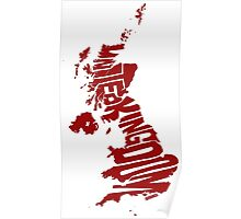 United Kingdom Red Poster