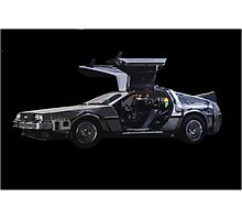 Back to the future Delorian car Photographic Print