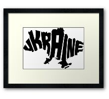 Ukraine Black Framed Print