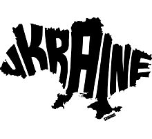 Ukraine Black Photographic Print