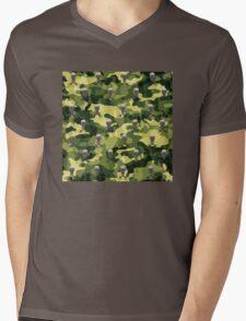 Military Camouflage Background Mens V-Neck T-Shirt