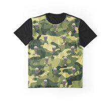 Military Camouflage Background Graphic T-Shirt