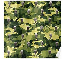 Military Camouflage Background Poster