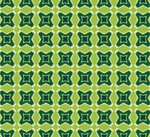 Geometric Stars Masculine Funky Lime and Greens by PhenomPixels