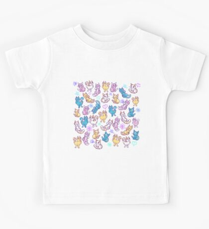 Colourful Kitty cat pattern Kids Clothes