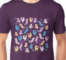 Colourful Kitty cat pattern Unisex T-Shirt