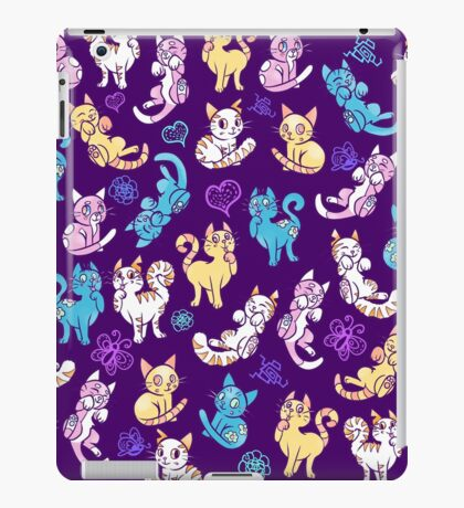 Colourful Kitty cat pattern iPad Case/Skin