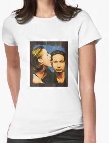 Gillian licks David's face Womens Fitted T-Shirt
