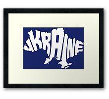 Ukraine White Framed Print