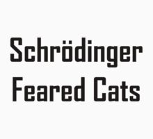 Schrodinger Feared Cats One Piece - Short Sleeve