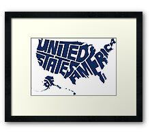 USA Blue Framed Print