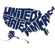 USA Blue Photographic Print