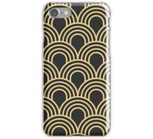 Art deco,scale pattern,gold,black,vintage,1920 era,chic,elegant iPhone Case/Skin