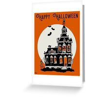 Vintage Style Haunted House - Happy Halloween Greeting Card